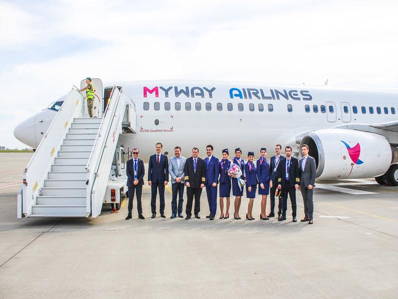 Myway Airlines полетит из Борисполя